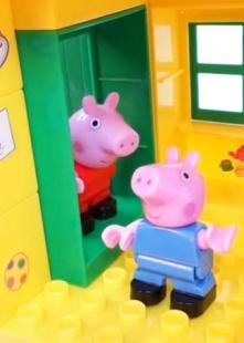 粉红猪玩具日常海报图片